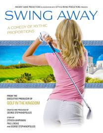 Golf Swing Away girl poster