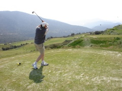 Kampmann launches forth at the Crete Golf Club