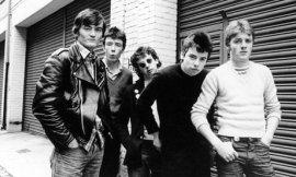 The original line-up of The Undertones with Feargal Sharkey on the left of the photo