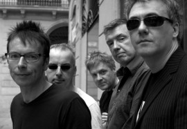 The current Undertones line-up with Paul McLoone on the right of the photo