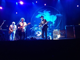 Neil Young and Crazy Horse in full gallop at the Roman Arena in Nimes (Photo; Barney Spender 2013)