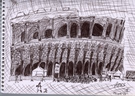 The arena in Nimes (Sydney Spender 2013)
