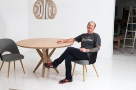 The snapper snapped: Angus Thomas at the end of a shoot (photo: Benchmark furniture)