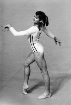 Nadia Comaneci swept all before her in the 1976 Olympics including our schoolboy hearts