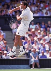 High-flying Pete Sampras won 14 Grand Slam titles in a stellar career