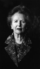 Helmut Newton's study of Margaret Thatcher