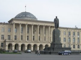 Stalin's statue was removed just after our visit in 2010