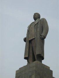 Josef Stalin keeping watch over the people of Gori