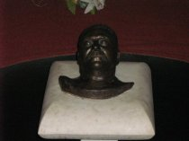 Stalin's death mask - in the museum at Gori (Photo: B Spender)