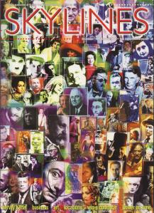 The Millennium issue of Skylines which featured Harvey Keitel. The cover design was specially commissioned from Osnat Lippa and shows 100 of the most influential people of the 20th century