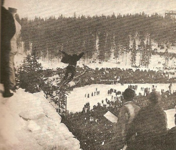 Ski-jumping was often more of a mad leap than an exact science (Photo: AE Spender)