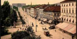 Christiania, 1900, looking anything but abuzz - presumably as everyone had headed off for the skiing at Holmenkollen
