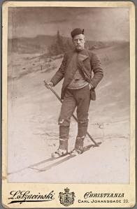 "Fridtjof Nansen. A renowned adventurer and later a ""peacemaker"", Nansen was a passionate skier."
