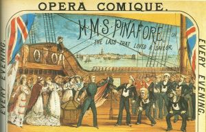 Two weeks before Spender went down to Plymouth, HMS Pinafore opened in London