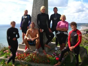 The Whitsand Surf and Life Saving Club at the Spender Memorial (Photo: The Club)