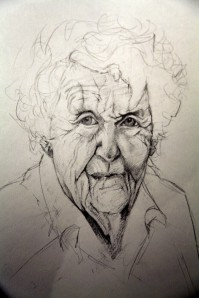 Ray Wolf A sketch of her grandmother by Carla Mackinnon
