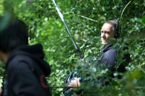 Roddy Gibson on location. He is Director of Photography on The Road to Sparta