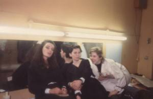 The Malfi Girls in the dressing room: (L-R) Mary McGuckian, Anne Enright, Amy Corcoran (Photo: Barney Spender)