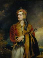 Byron in Albanian Dress by Thomas Phillips, circa 1835