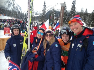 Jurgen Grav (right of picture) with some of his Norwegian teammates and staff (Photo: Barney Spender 2015)