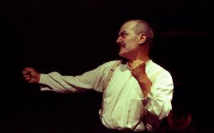 Steven Berkoff performing in his 1986 adaptation of Kafka's Metamorphosis (Photo: Roger Morton)