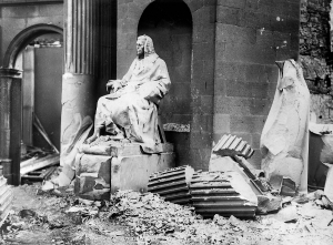 After the battle for the Four Courts, the building lay in total ruin. (National Library of Ireland)