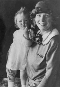 The baby born in battle: Veronica with her mother Dorothea. (Cookson family archive)